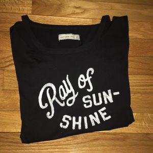 "Black ""Ray Of Sunshine"" shirt"